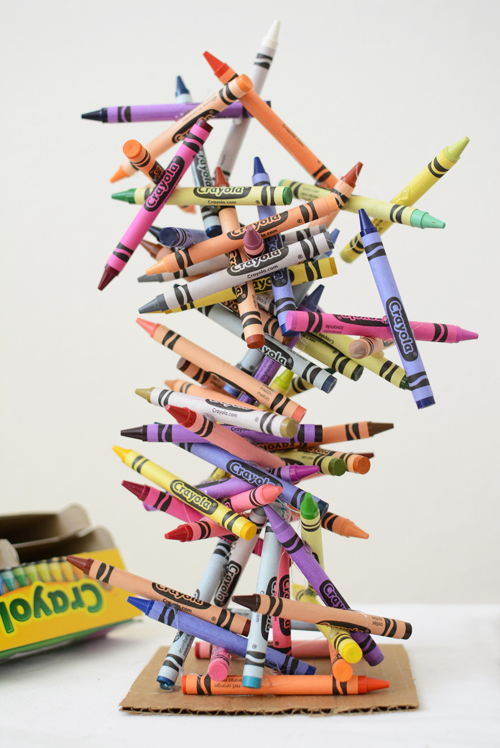 crayon sculpture