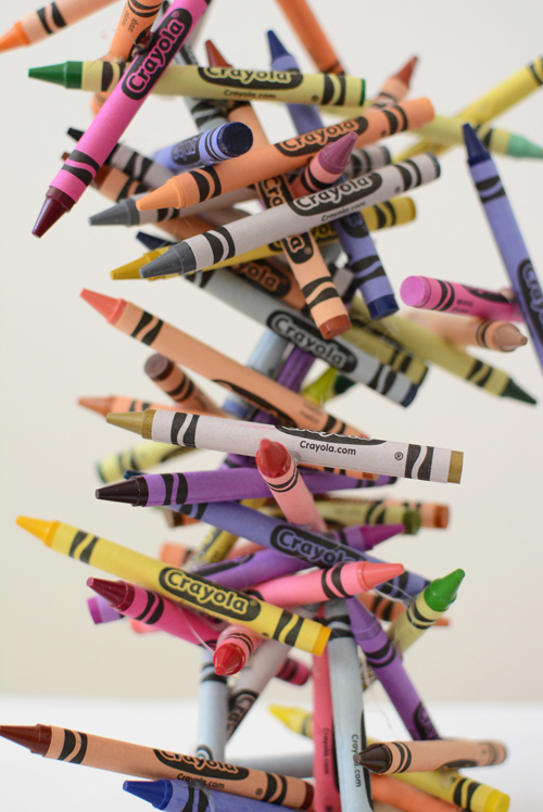 Crayon Art Sculpture