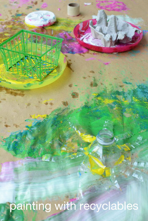 Painting with Recyclables - Easy Painting Activity for Kids