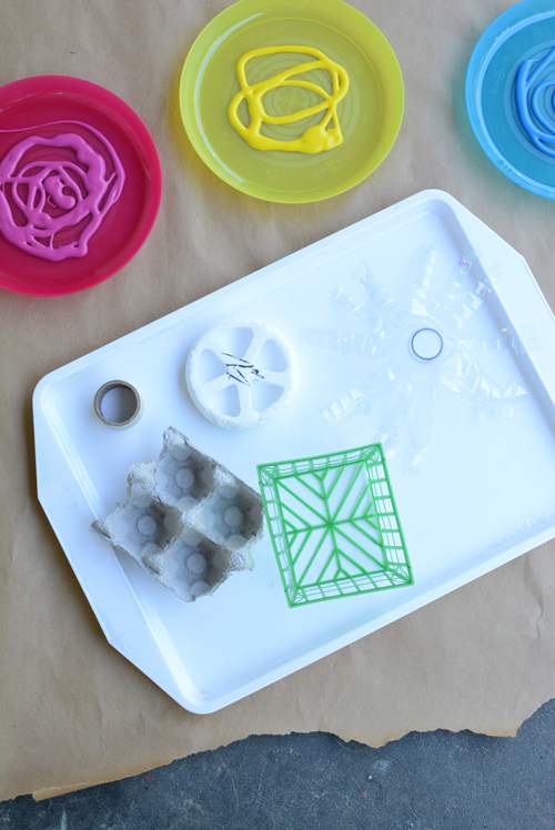 Painting with Recyclables  Easy Art Activity for Kids