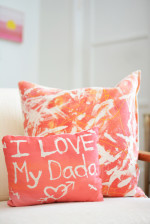 Fabric Resist Art Pillows – Awesome Mother's and Father's Day Gift