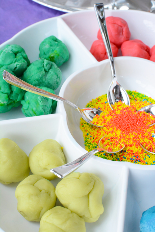 Playdough and Sprinkles for Toddlers - Invitation to Play