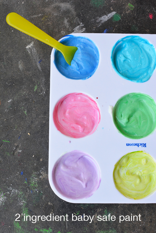 2 Ingredient Yogurt Paint for Babies and Toddlers