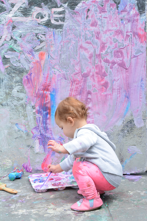 2 Ingredient Yogurt Paint on a Painting Wall