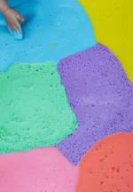 Dinosaur Sensory Play for Toddlers – Rainbow Shampoo