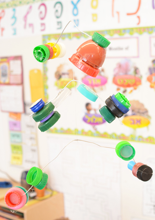 Calder Inspired Bottle Cap Mobiiles - Recycled Art Projects for Kids