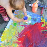 Evolving Canvas Process Art Painting for Kids