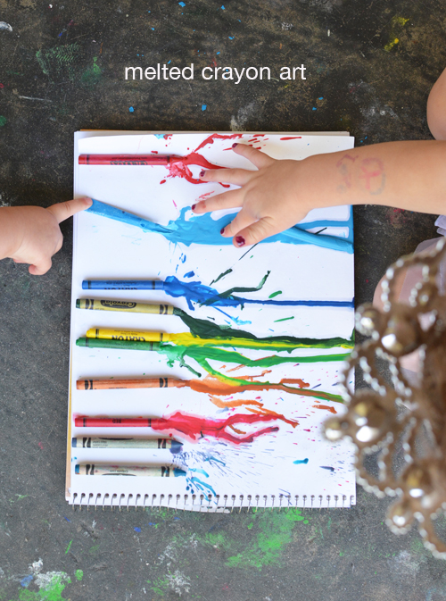 Melted Crayon Art for Toddlers