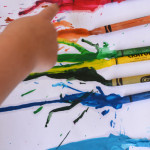 Easy Crayon Melting Art for Toddlers | Meri Cherry Blog
