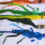 Easy Crayon Melting Art for Toddlers | Meri Cherry Blog