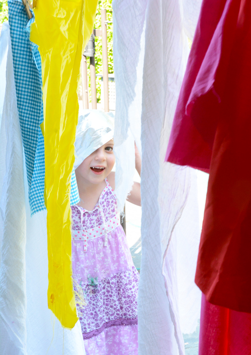 Fabric Clothesline - Invitation to Play for Kids | Meri Cherry Blog