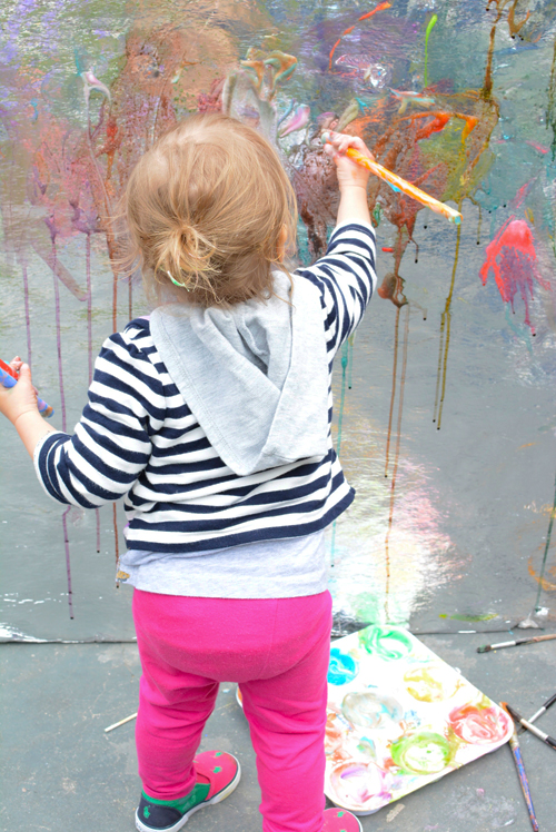 Painting Wall for Kids | Meri Cherry Art Play Groups