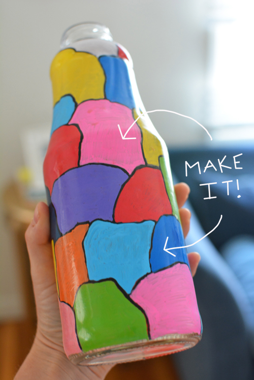 Make Your Own Milk Jar Vase | Meri Cherry Blog