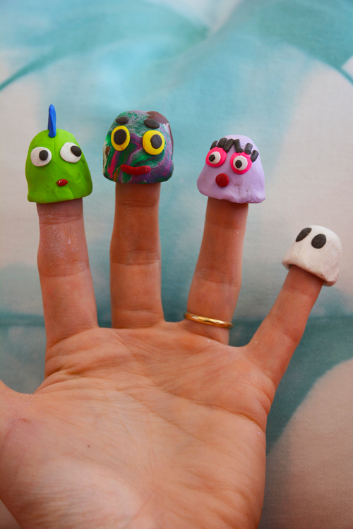 Funky Sculpey Finger Puppets