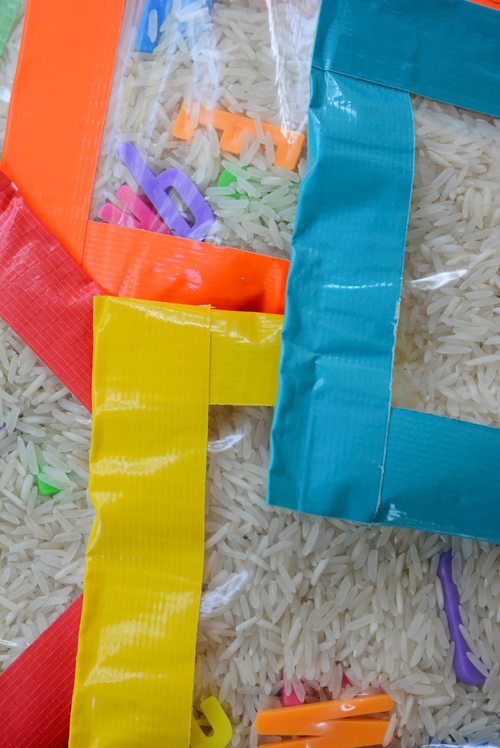 Make your own sensory bean bags