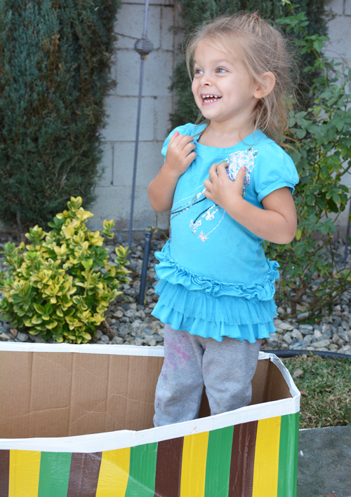 Make a Boat for kids from a Cardboard Box   Meri Cherry Blog