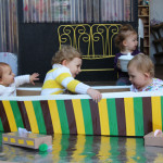 Make a boat from a cardboard box for hours of fun