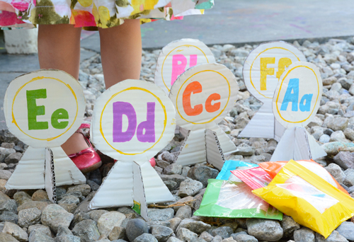 Chicka Chicka Boom Boom Literacy Game for Kids - Alphabet Bean Bag Toss | Meri Cherry Blog