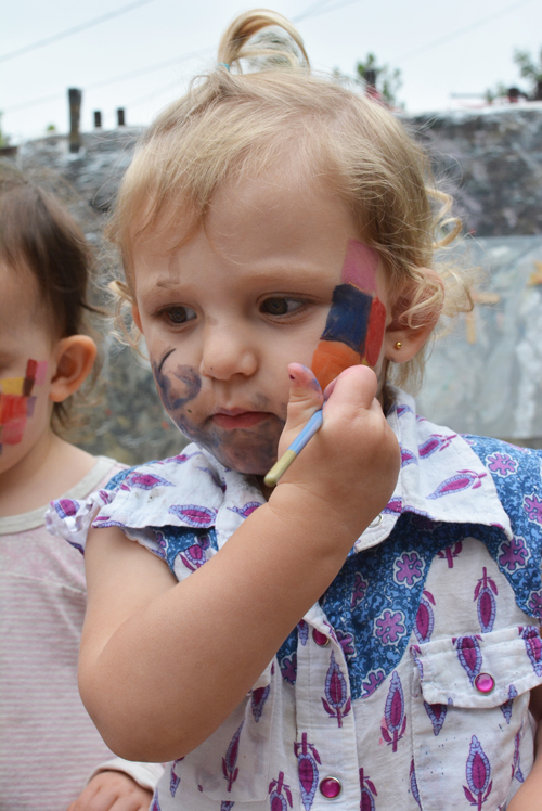 Elmer Face Painting Party