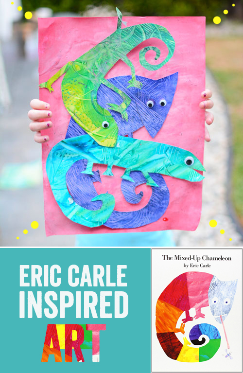 art inspired by eric carle - the mixed up chameleon