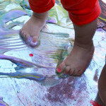 Feet Painting - Toddler Disco Party