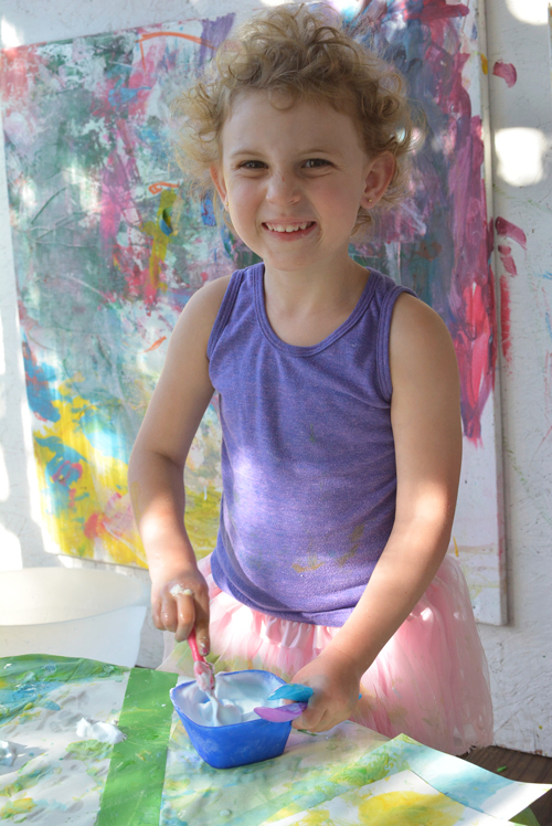 Little Blue and Little Yellow Paint Mixing for Toddlers   Meri Cherry Blog