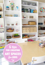 5 Tips for Creating an Art Space for Kids