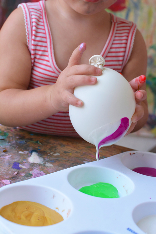 Balloon Art - Great Painting Activity for Kids