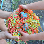 Rainbow Spaghetti and Meatballs Sensory Play for Toddlers