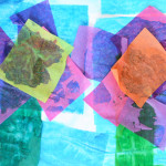 Simple Tissue Paper Flower Art for Kids