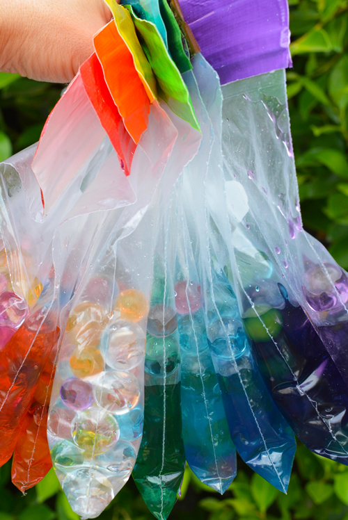 Rainbow Water Bead Sensory Bags for Babies and Toddlers