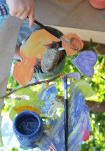 Reggio Inspired Mirror Nature Painting for Toddlers