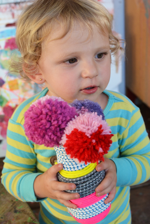 How to Make Pom Pom Flower Pops