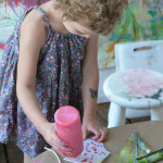 How to do printmaking with young children, even toddlers