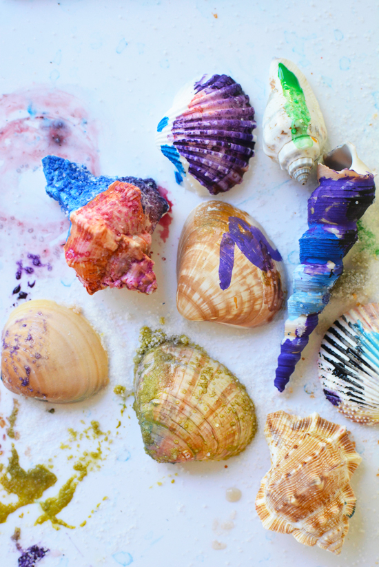 Painting Shells with Watercolors