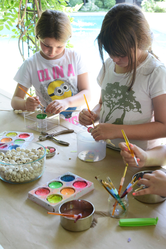 Bead Painting with Watercolors