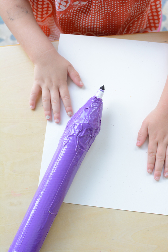 Harold and the Oversized Purple Crayon