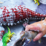 La Brea Tar Pit Slime and Dinosaur Play for Toddlers