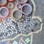 Temporary Mosaic Art