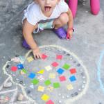 Temporary Mosaics - Great easy art activity for kids