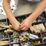 How to make tinker trays for kids for open ended process art - Reggio Inspired