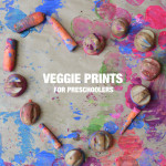 How to do Vegetable Prints with Preschoolers