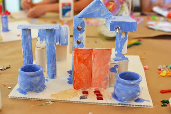 Making wood buildings with young children - a how to