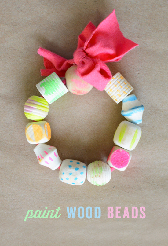 How To Paint Wood Beads For Bracelets And Other Easy Art Projects Kids