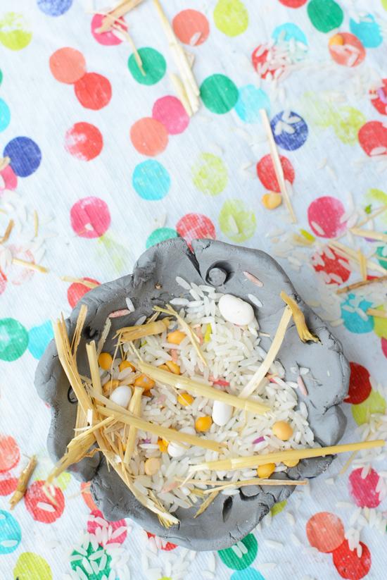 Make a Clay Bird's Nest