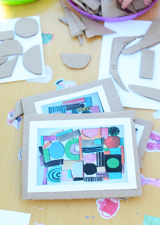 recycled shape art easy art projects for kids meri cherry