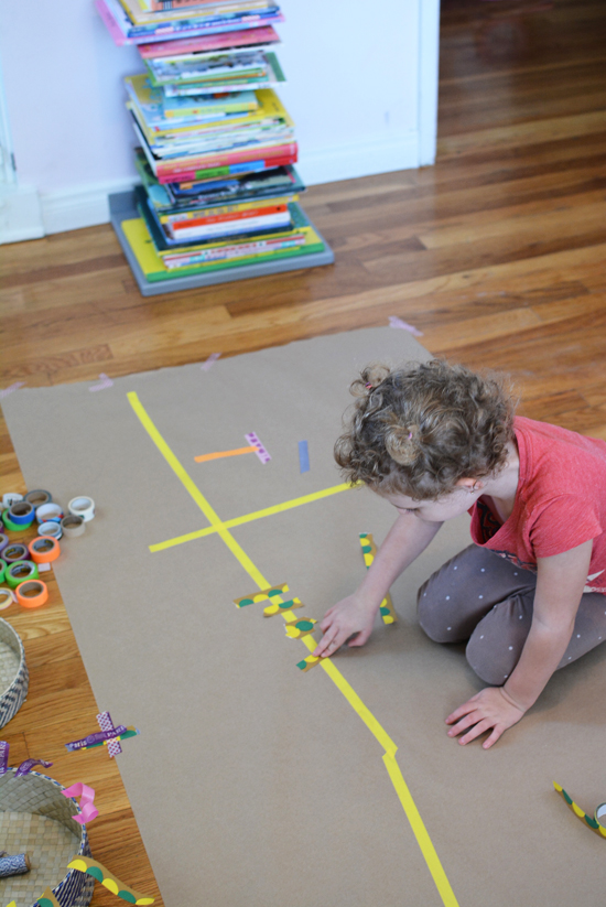 Make a Washi Tape Mural – Easy Art Projects for Kids