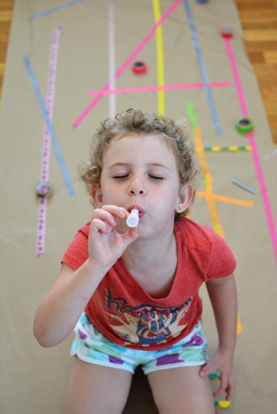Make a Washi Tape Mural with your Preschooler