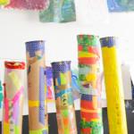 Make rain sticks for kids