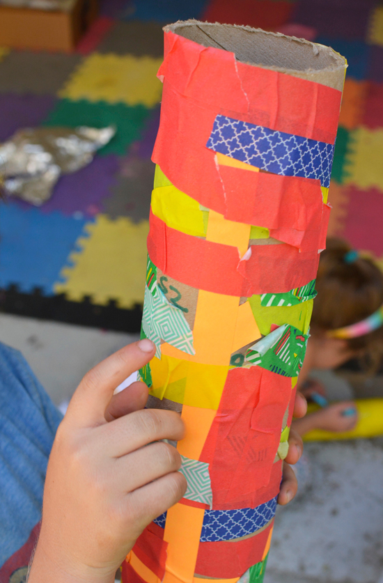 Make rain sticks for kids